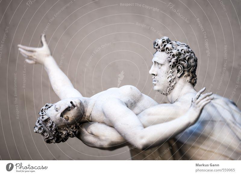 Statue in Florenz, Italien Mensch Frau Ferien & Urlaub & Reisen Mann alt Erotik Erwachsene Gefühle Stein Kunst Europa ästhetisch Todesangst schreien