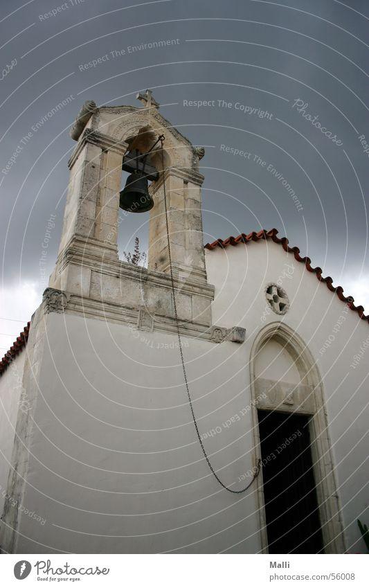 bedrohlich Glocke Wolken Rettung Kreta Religion & Glaube Weitwinkel Regen Gewitter Angst Traurigkeit