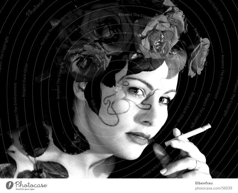 Rosenrauch Fantasygeschichte rosenkopf Rauch Rauchen Schwarzweißfoto