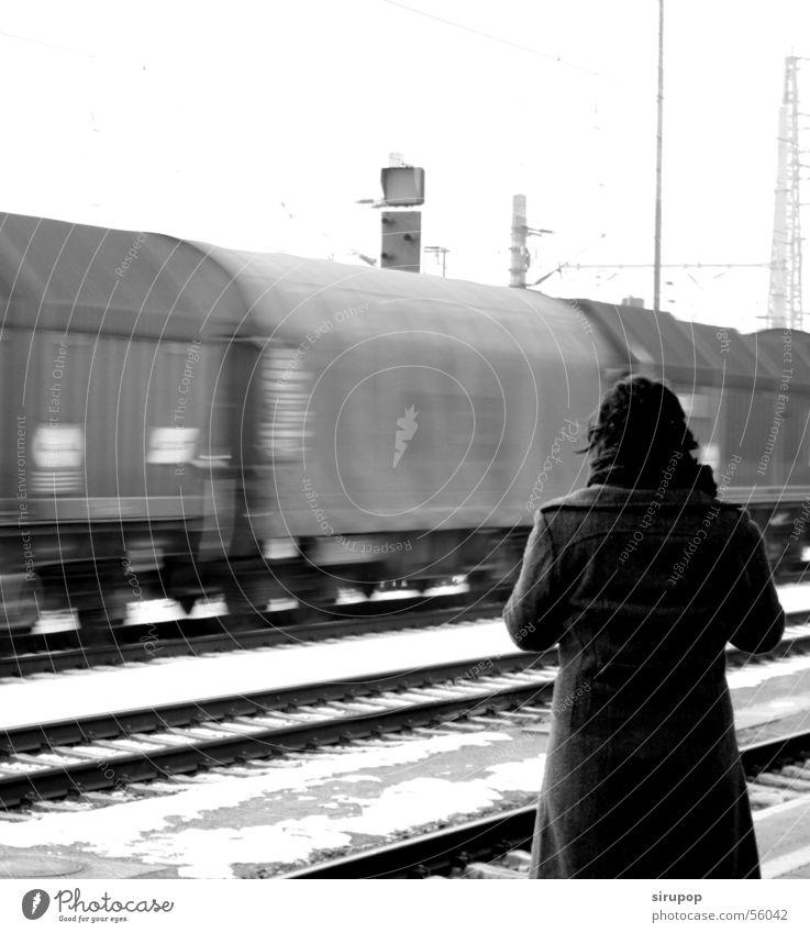 Den Güterzug verpasst...?!? Eisenbahn Gleise Bahnhof Nachkriegszeit