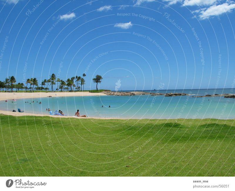 Bucht auf Oahu, Hawaii Sommer Strand Sand Paradies Lagune Sandstrand