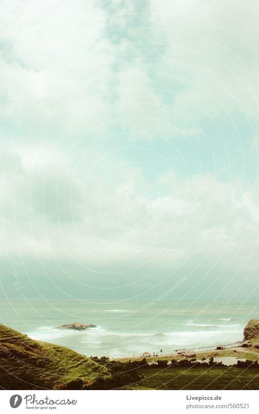 oh Bali Himmel Natur Ferien & Urlaub & Reisen Wasser Pflanze Sommer Meer Landschaft ruhig Wolken Strand Ferne Umwelt Küste Freiheit Wellen