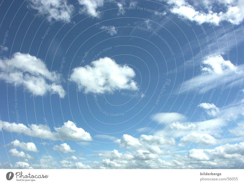 Wolkenhimmel-1 Himmel weiß blau Sommer Farbe schlechtes Wetter