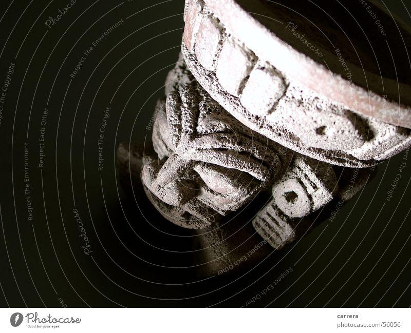 Die Geister die ich rief Gesicht Stein braun Kultur geheimnisvoll gruselig böse Mexiko unheimlich grimmig Steinfigur Azteken Opfergefäß Mexikanischer Götterkult