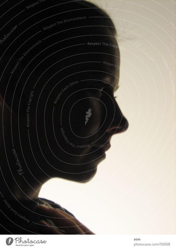 lady maria magdalena Silhouette Licht Porträt Frau Sehnsucht träumen Gedanke Profil Nase Auge Mund Mensch Blick