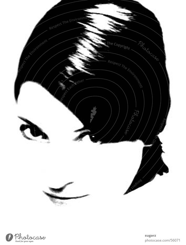ich Porträt Gesicht Nahaufnahme Schwarzweißfoto