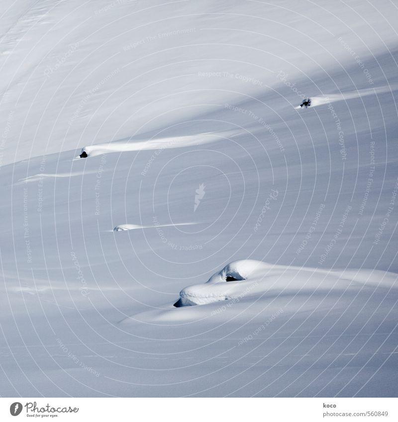 im schnee. Natur blau weiß Einsamkeit Landschaft schwarz kalt Umwelt Berge u. Gebirge Schnee Linie Erde Streifen Schneebedeckte Gipfel rein