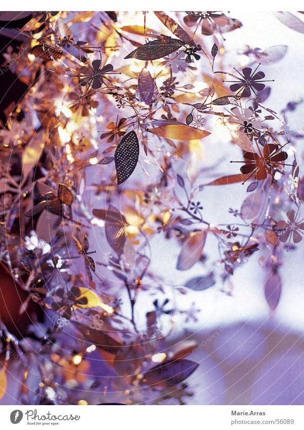 Blumen-Leuchte Lampe Blüte grau glänzend silber