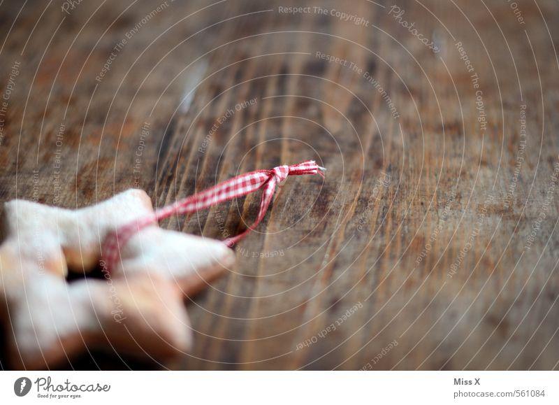 Plätzchendeko Weihnachten & Advent Holz Lebensmittel Dekoration & Verzierung Ernährung süß Stern (Symbol) Süßwaren lecker Backwaren kariert Teigwaren Keks