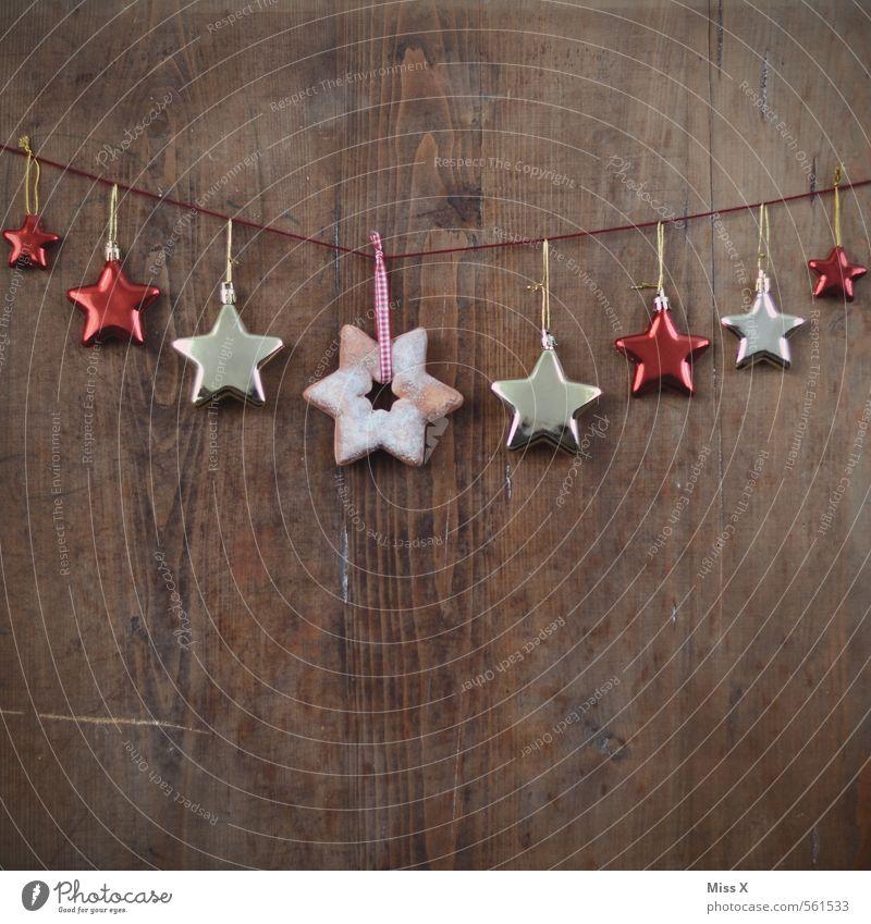 Girlande Weihnachten & Advent Holz Feste & Feiern Stimmung glänzend Tür Dekoration & Verzierung Schnur Stern (Symbol) hängen festlich Weihnachtsdekoration aufhängen Maserung Girlande Baumschmuck