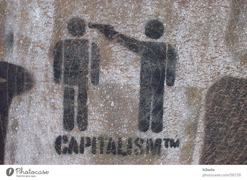 Capitalism Mauer Graffiti Kapitalismus