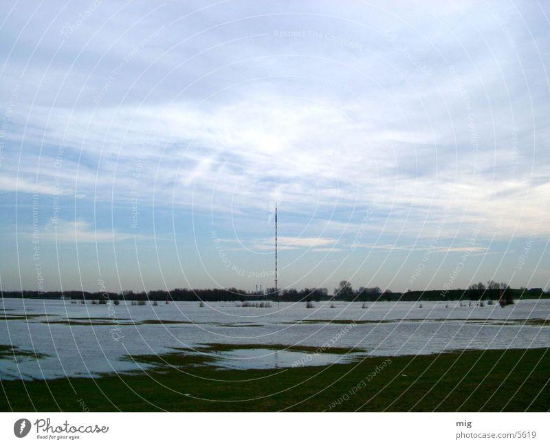Wesel Natur Wasser Wolken Landschaft Rhein