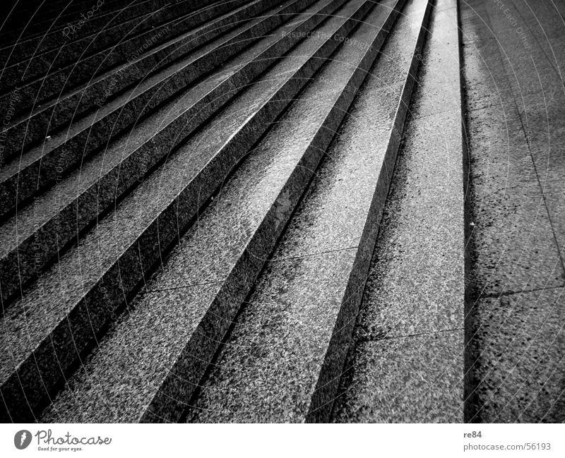 steps to dawn weiß schwarz grau Wege & Pfade Treppe Platz Köln aufwärts Flucht abwärts Dom schreiten Granit Paletten