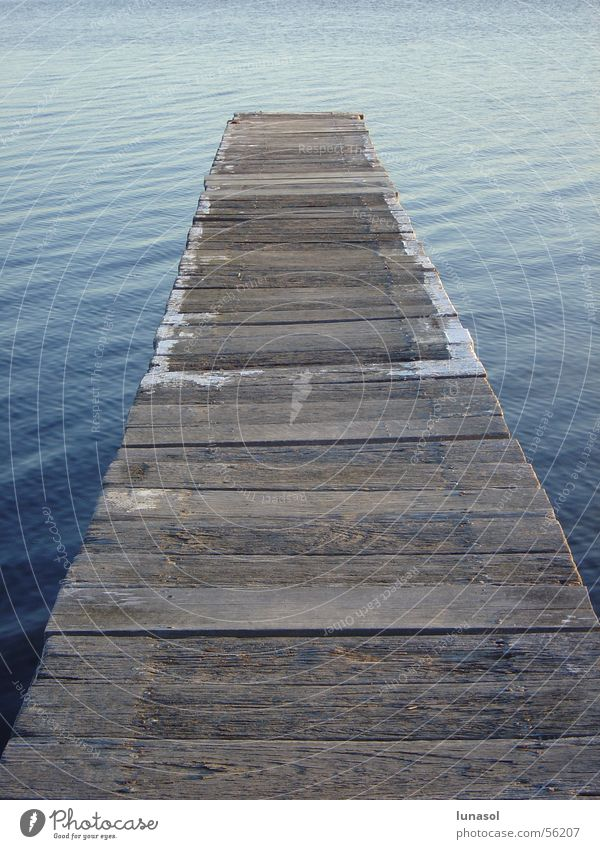 pier on a lake Anlegestelle