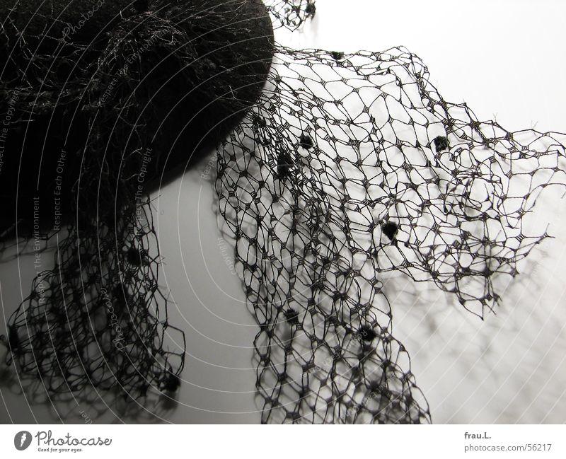 mit Schleier alt schwarz feminin Feste & Feiern elegant Bekleidung Spitze Netz Hut ausgehen Filz Baseballmütze
