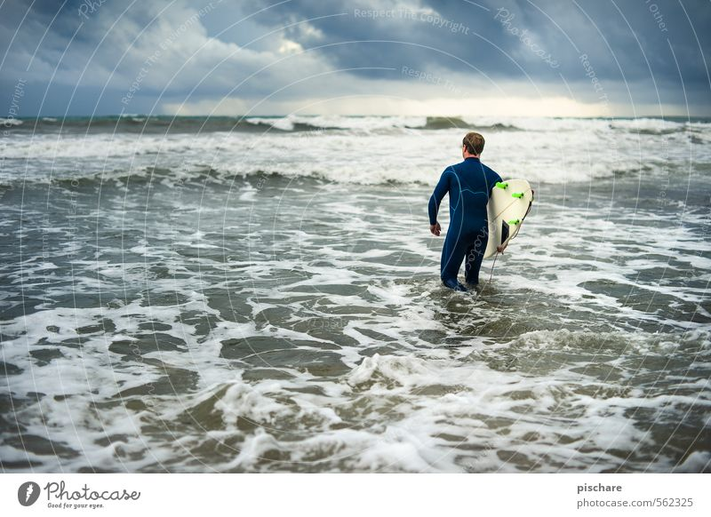 Surf Adria Natur Meer Wolken dunkel Sport Freizeit & Hobby Wellen Lifestyle Abenteuer Wassersport