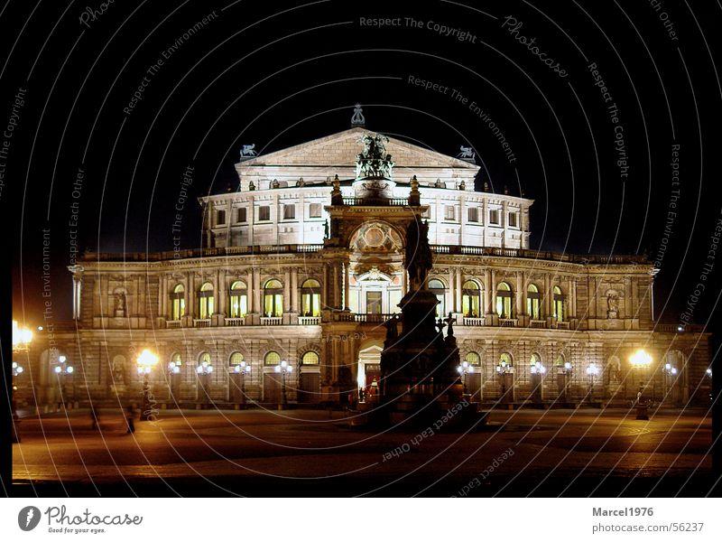 Semproper Dresden Semperoper Nacht Oper dresden bei nacht