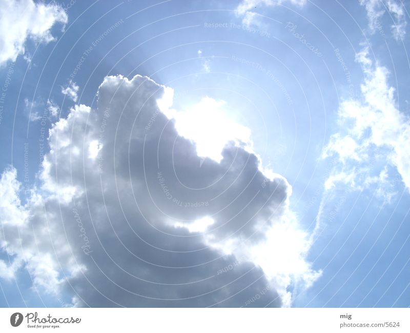 wolken Himmel Sonne blau