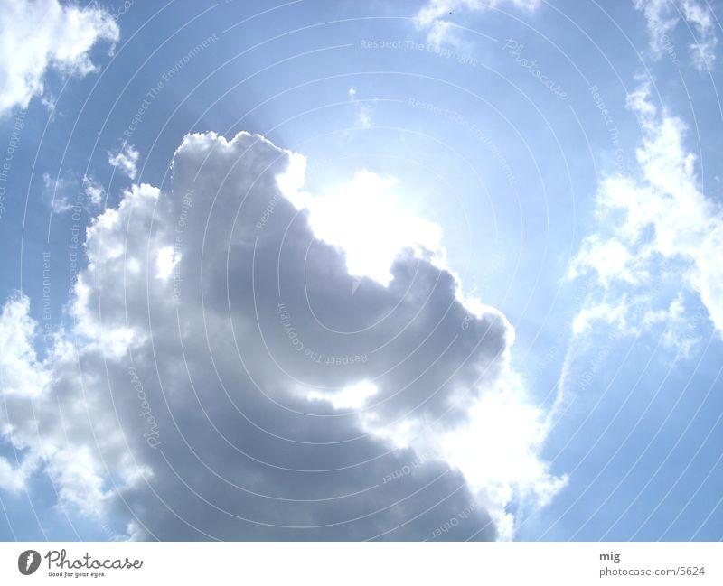 wolken Sonne blau Himmel