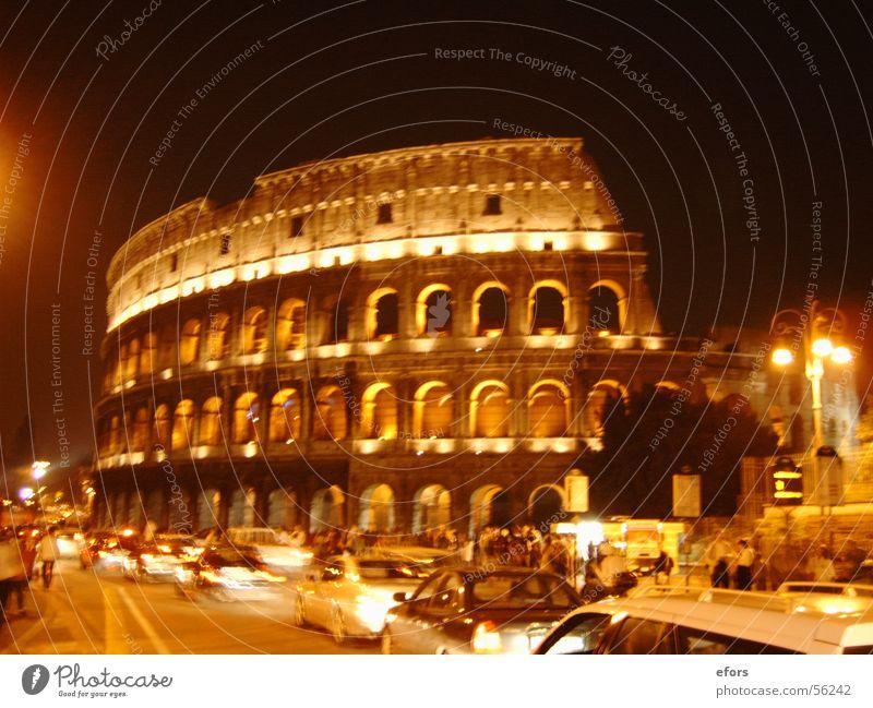 Kolosseum Rom Italien Nacht Licht Gebäude