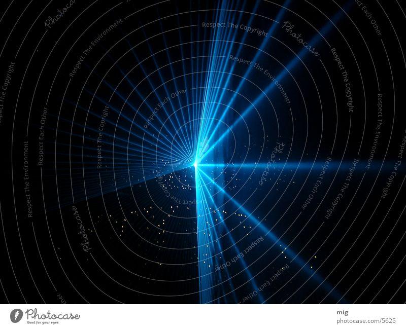 Laser II Licht Show Dinge blau