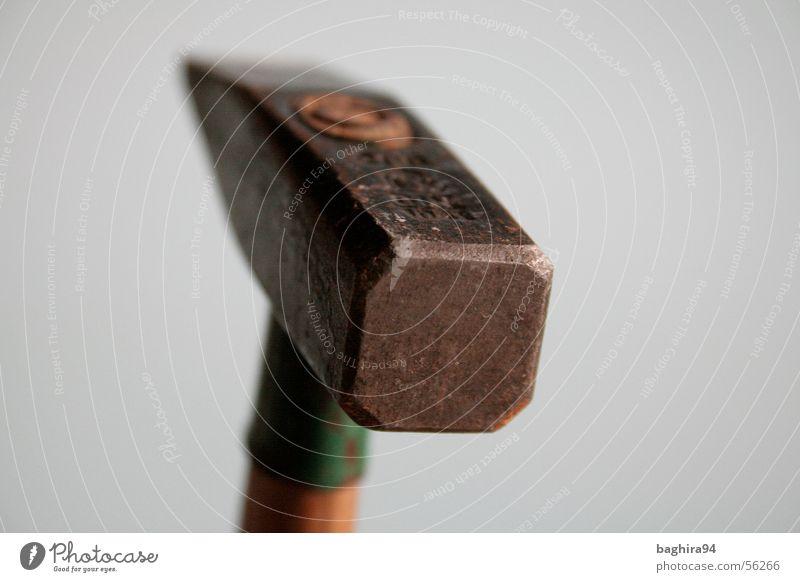 Hammer-Teil grün grau Dinge Werkzeug Hammer Hammerkopf
