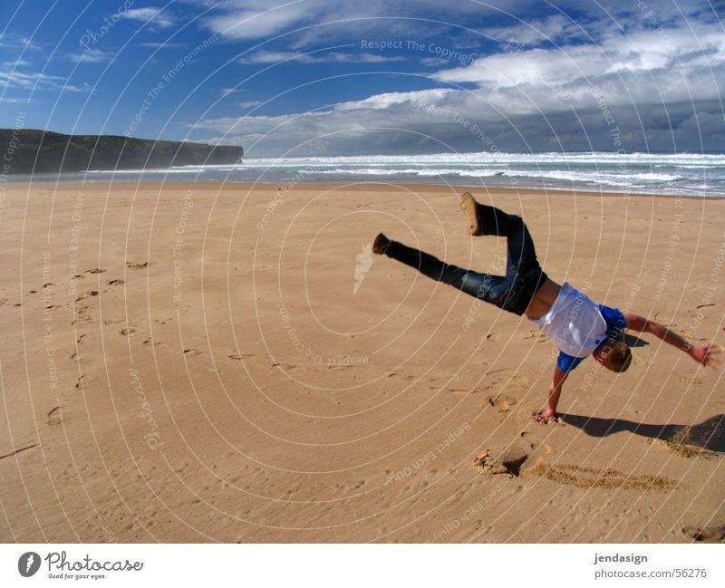 Rad am Strand Meer Sommer Sport Freiheit Glück Sand Wellen Wetter Fröhlichkeit Freizeit & Hobby Portugal Atlantik Ausgelassenheit Algarve