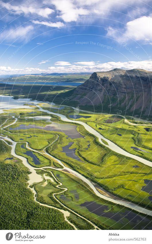 Delta Natur grün Erholung Landschaft ruhig Freude Ferne Berge u. Gebirge Leben Wege & Pfade Glück Zeit Gesundheit Erde Stimmung Kraft