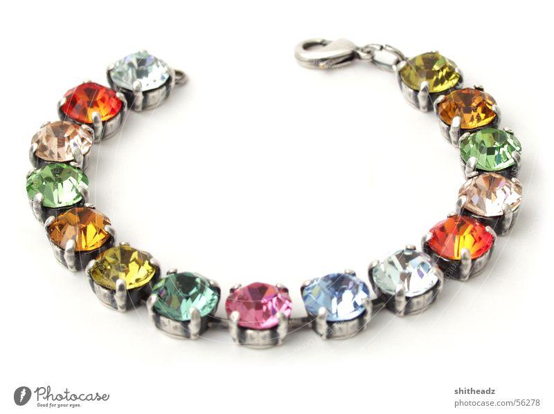 Armband Stein glänzend Kitsch Schmuck Edelstein Diamant