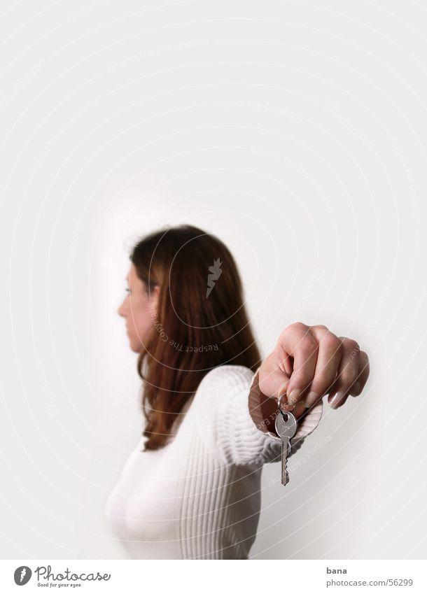 Ich gehe Einsamkeit Abschied Schlüssel Trennung Frustration Scheidung