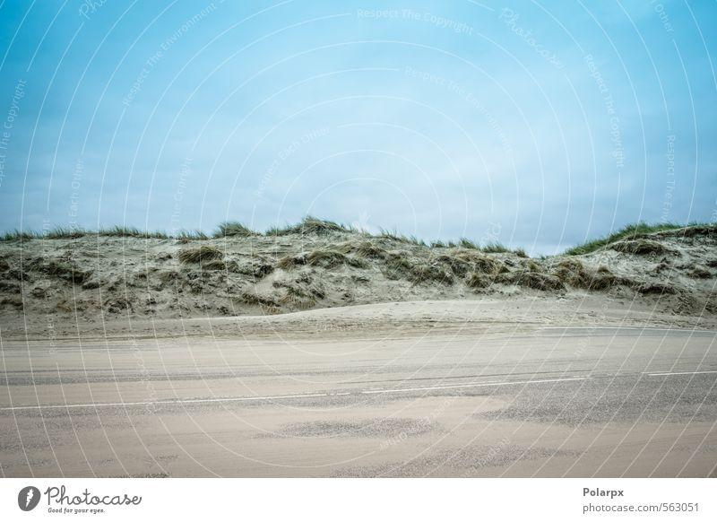 Sandige Straße Ferien & Urlaub & Reisen Sommer Strand Meer Umwelt Natur Landschaft Erde Himmel Wolken Horizont Klima Wetter Gras Hügel Küste Wege & Pfade