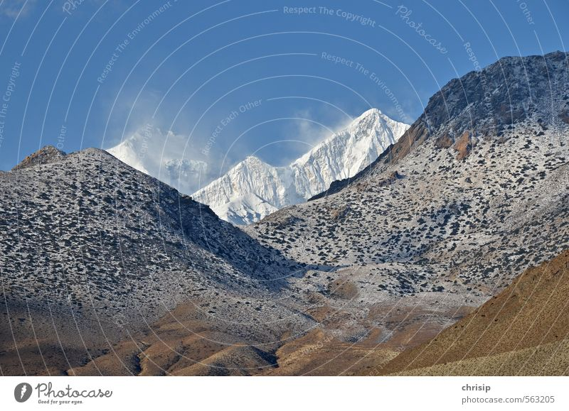Nepal V Himmel Natur Ferien & Urlaub & Reisen Landschaft Wolken kalt Umwelt Berge u. Gebirge Schnee Sand Felsen Erde Nebel wandern Schönes Wetter Gipfel