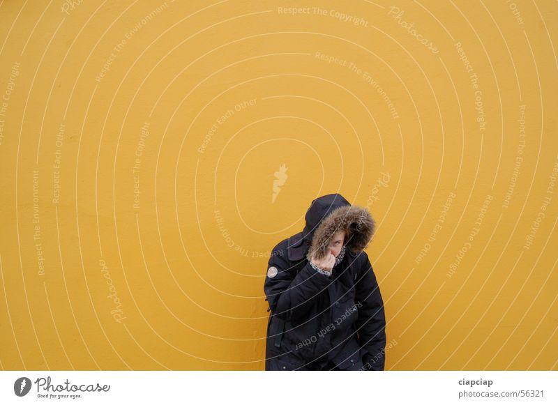 meine Madchen Winter gelb Wand Mauer
