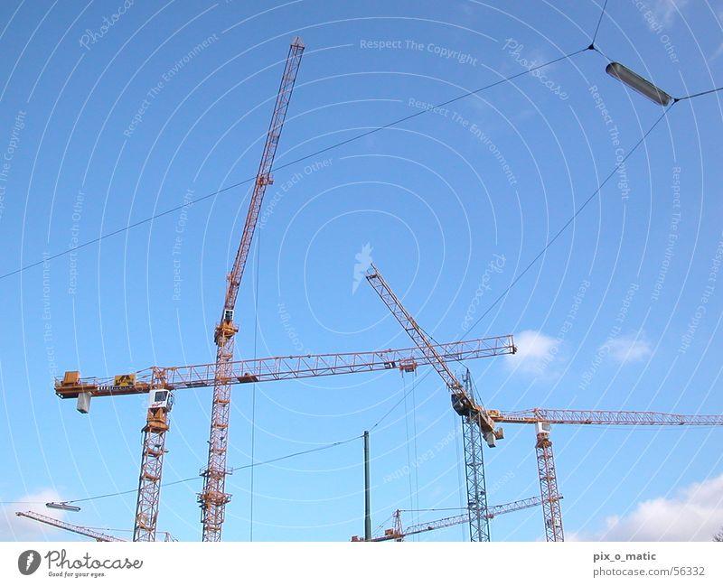 skyconstruct Himmel blau Wolken Arbeit & Erwerbstätigkeit Schönes Wetter Baustelle Kran