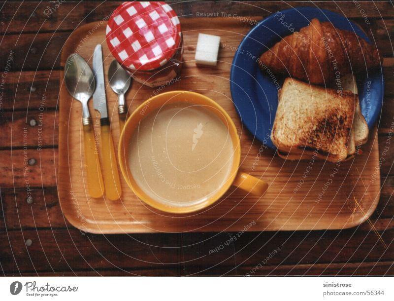 Petit déjeuner Brot Kaffee Café Frühstück Toastbrot Croissant Milchkaffee