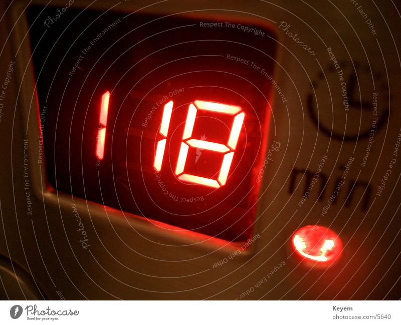 118 Min? rot Technik & Technologie Küche Uhr Ziffern & Zahlen Digitalfotografie Elektrisches Gerät Mikrowelle