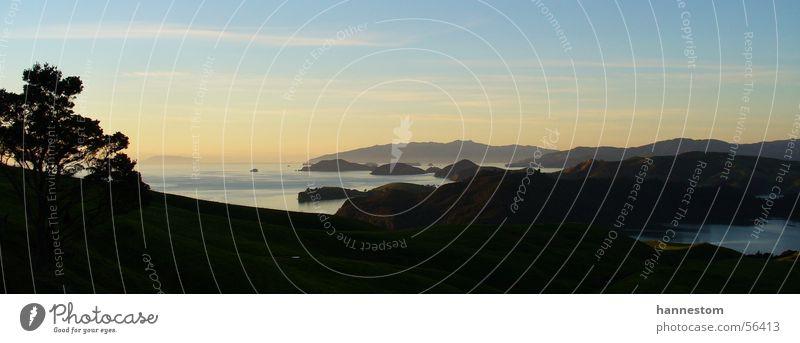 Sonnenuntergang Meer Insel Neuseeland Coromandel-Halbinsel