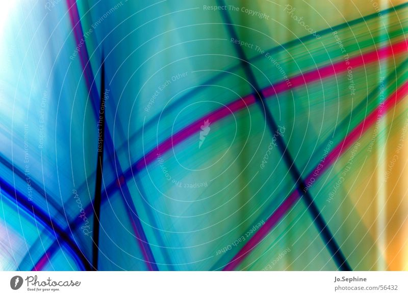 coloured light blau grün Farbe Bewegung Linie rosa Design leuchten durchsichtig fließen abstrakt innovativ Lichtspiel Illusion kreuzen gekreuzt