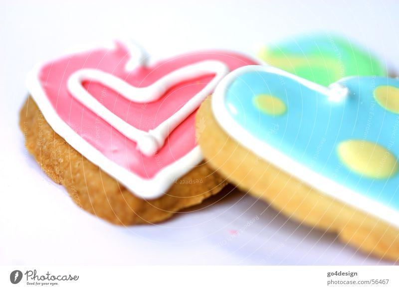 Kekse der Liebe Happy Birthday rot türkis gelb lecker Ernährung süß Backwaren Zuckerguß grün Konditorei Buchstaben mehrfarbig Lebensmittelfarbe Kindheitstraum