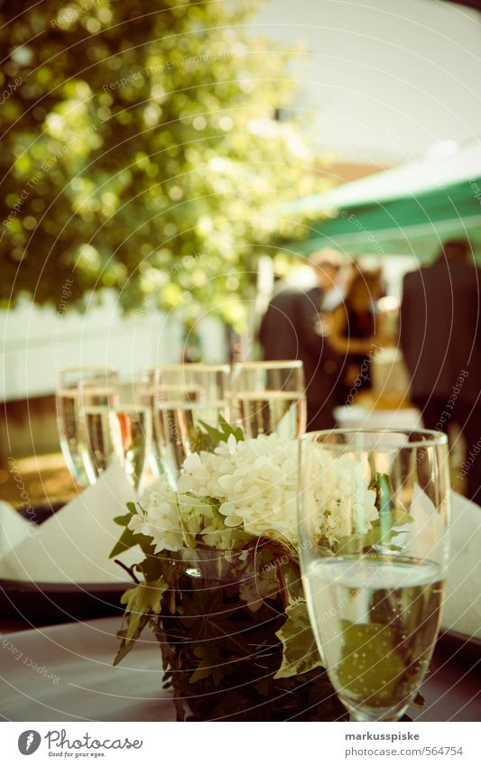 Open Air Party Gesellschaft Büffet Brunch Festessen Geschäftsessen Sekt Sektglas Champagner Lifestyle Reichtum elegant Stil Design Entertainment Veranstaltung