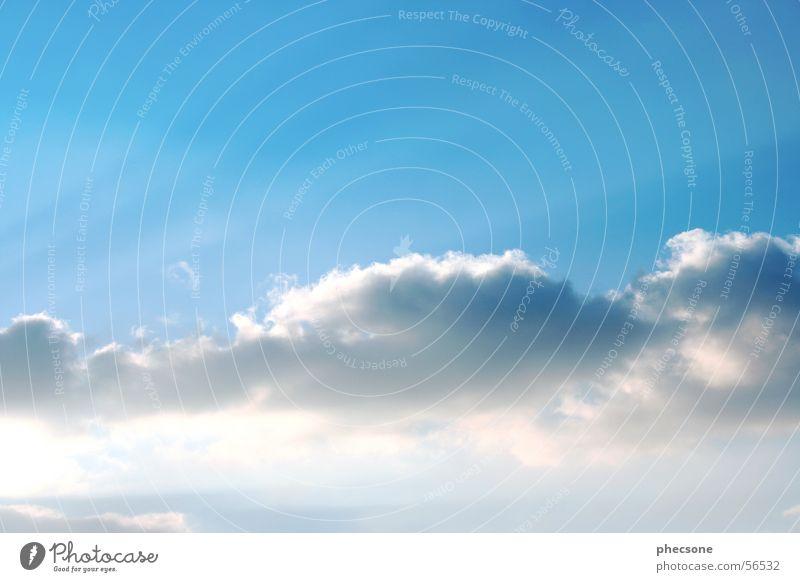 Sky Himmel blau Wolken springen Beleuchtung