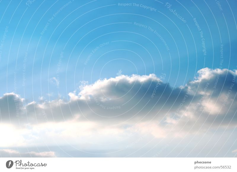 Sky Wolken Licht Himmel springen Beleuchtung blau sky cloud light rays blue
