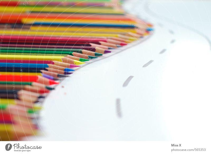 Buntstiftstraße Farbe Straße Wege & Pfade Spielen Kunst Schule Arbeit & Erwerbstätigkeit Freizeit & Hobby Büro Spitze lernen Studium Kreativität Idee fahren