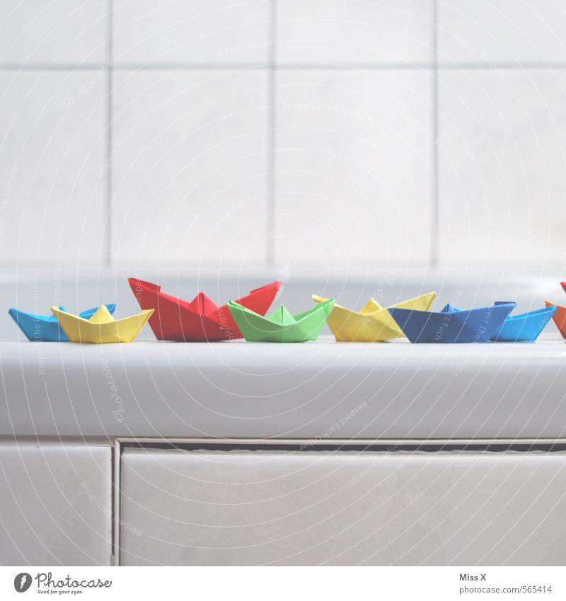 Ahoi Freizeit & Hobby Spielen Kinderspiel Badewanne Schifffahrt Bootsfahrt Kreuzfahrtschiff Wasserfahrzeug Papier Spielzeug Schwimmen & Baden Farbe Konkurrenz
