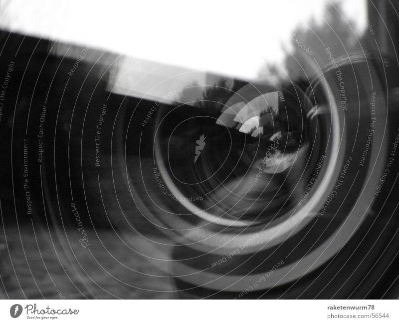 Das künstliche Auge Reflexion & Spiegelung Fotokamera Makroaufnahme Nahaufnahme Schwarzweißfoto Fotografie Linse Objektiv