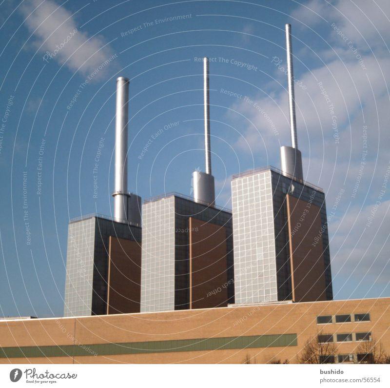 """Die """"Drei warmen Brüder"""" ;-) Baustelle Bauwerk Hannover Stromkraftwerke Hochbau"""