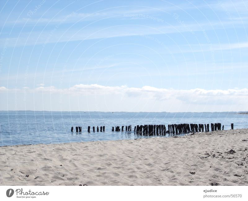 ost.see Himmel Meer Strand Wolken Sand Ostsee
