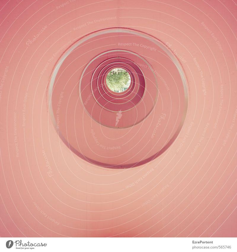 99 | Danke Kunst Baum Stadt Bauwerk Gebäude Architektur Mauer Wand Fassade Tunnel Beton Zeichen ästhetisch außergewöhnlich rot Tunnelblick Kreis kreisrund
