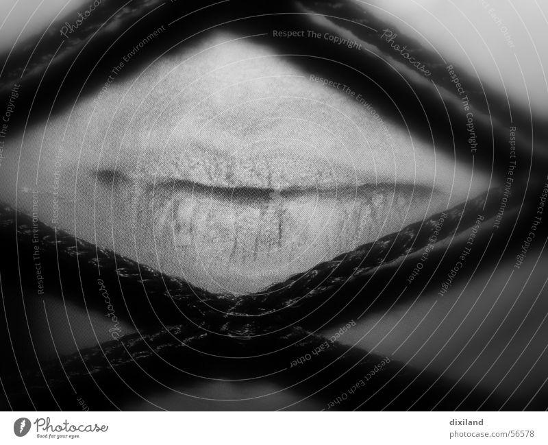 Schweigen Mensch ruhig Mund Lippen Netz