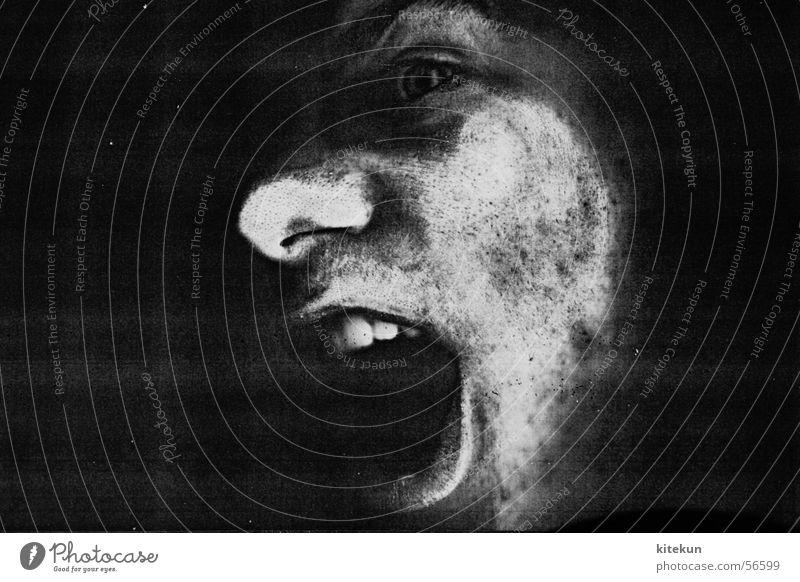 die allerfeinste kopiermanier - premier weiß schwarz dunkel Fenster grau Angst lustig Nase Zähne schreien gruselig gefangen erstaunt Fotokopierer